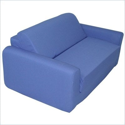 Elite Royal Blue Children's Foam Sleeper Sofa