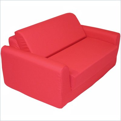 Elite Red Children's Foam Sleeper Sofa