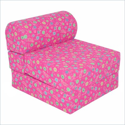 Elite Pink Flowers Children's Foam Sleeper Chair