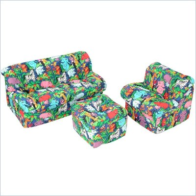 Elite Jungle Children's 3-Piece Foam Sofa Set