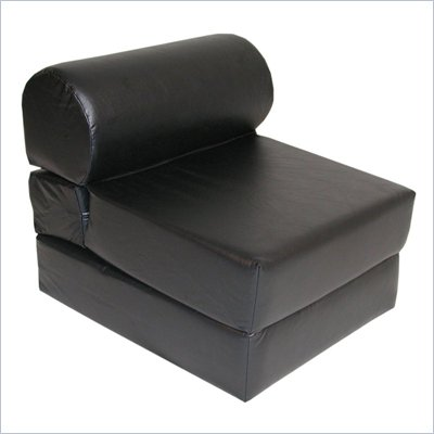 Ebony Adult Foam Sleeper Chair (Vinyl)