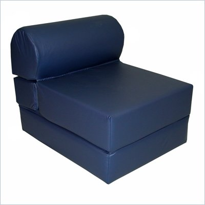 Navy Adult Foam Sleeper Chair (Vinyl)