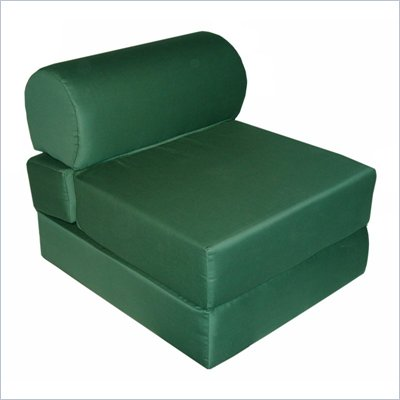 Elite Hunter Green Adult Foam Sleeper Chair