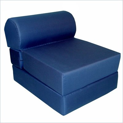 Elite Navy Adult Foam Sleeper Chair