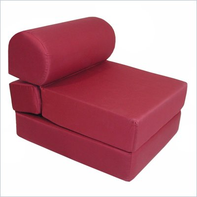 Elite Burgundy Adult Foam Sleeper Chair