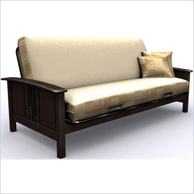 Elite Products Hermosa Full Wood Futon Frame in Espresso Finish