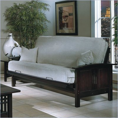 Elite Products Hermosa Futon Frame and Mattress Set