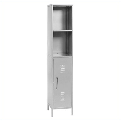 Elite Products Locker Storage Tower Left, Multicolor