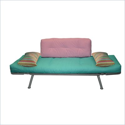 Elite Products Mali Futon in Teal Pink and Candy