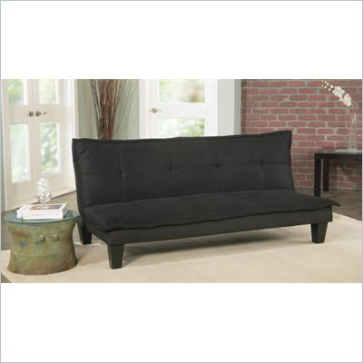 Elite Products Manhattan Convertible Sofa in Black
