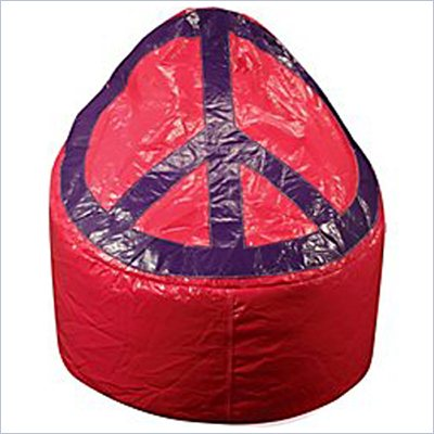 Elite Products Large Peace Pod Bean Bag in Magenta/Grape