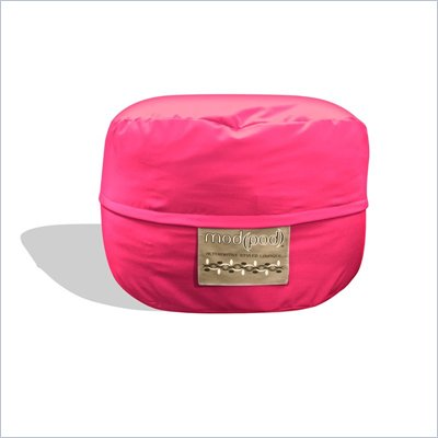 Elite Products Junior Mod Pod FX 3-FT Bean Bag Chair in Hot Pink