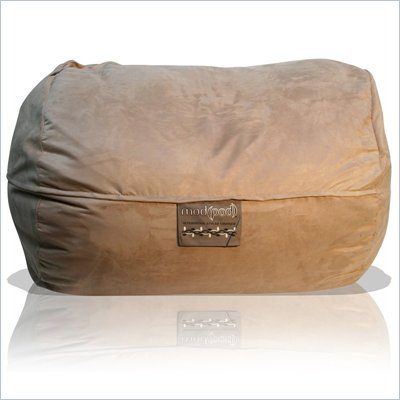 Elite Products 6 Foot Mod Pod FX Bean Bag Chair in Fawn Suede
