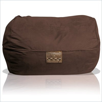 Elite Products 6 Foot Mod Pod FX Bean Bag Chair in Chocolate Suede