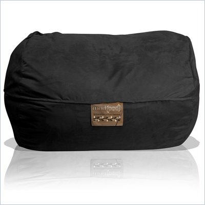 Elite Products 6 Foot Mod Pod FX Bean Bag Chair in Black Suede
