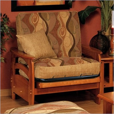 Elite Products Montego Junior Twin Oak Futon Chair Frame