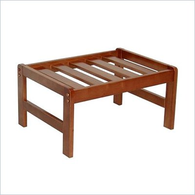 Elite Products Montego Junior Twin Square Ottoman Frame in Honey Oak