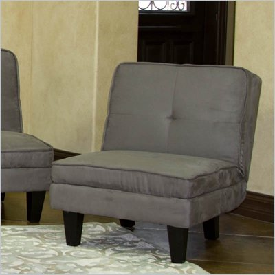 Elite Products Newport Convertible Chair in Grey