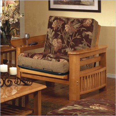 Elite Products Portofino Twin Oak Futon Chair Frame