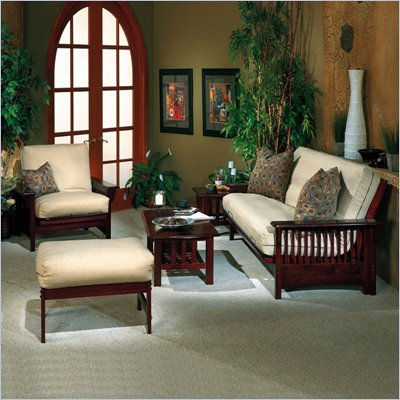 Elite Products Santa Barbara Futon Set in Walnut
