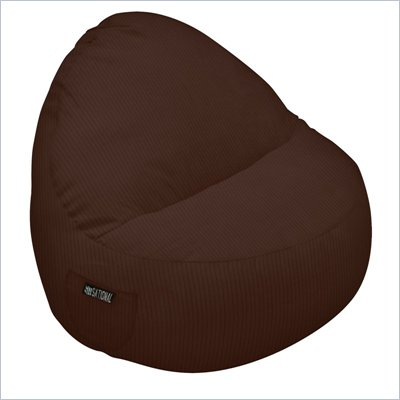 Elite Products Deluxe Cord Sitsational 1 Seater Bean Bag Chair in Chocolate