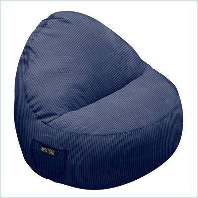 Elite Products Deluxe Cord Sitsational 1 Seater Bean Bag Chair in Navy