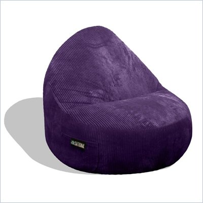 Elite Products Deluxe Cord Sitsational 2 Seater Bean Bag Chair in Aubergine