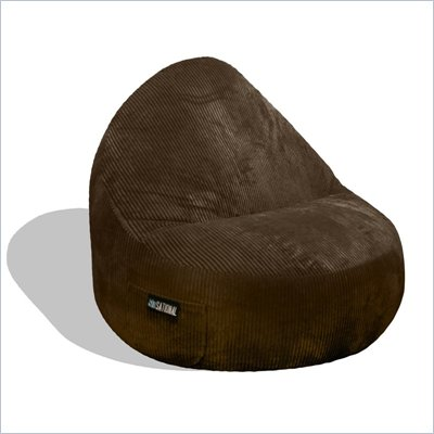 Elite Products Deluxe Cord Sitsational 2 Seater Bean Bag Chair in Chocolate