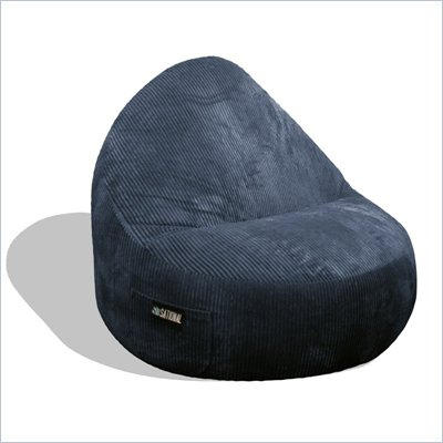 Elite Products Deluxe Cord Sitsational 2 Seater Bean Bag Chair in Navy