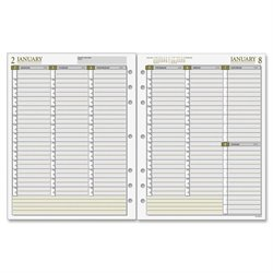 Day Runner Vertical Weekly Planner Refill Pages