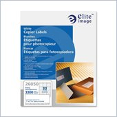 Elite Image White Copier Mailing Label