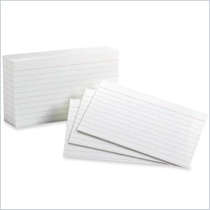 Esselte Top Quality Ruled Index Card