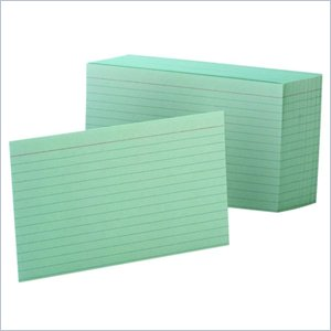 Esselte Colored Ruled Index Card