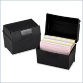 Esselte Plastic Index Card Box With Lid
