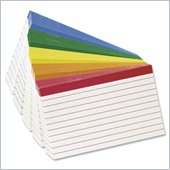 Esselte Color Coded Bar Ruling Index Card