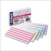 Esselte Color Bar Ruling Index Cards
