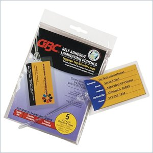 GBC Self-Adhesive Laminating Pouch
