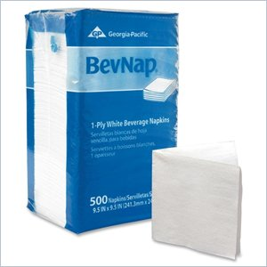 Georgia-Pacific BevNap 1 Ply Beverage Napkin