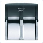 Compact Vertical Four Roll Tissue Dispenser