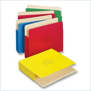 Globe-Weis Colored Expanding File Pocket