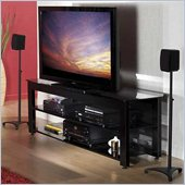 Sanus Lowboy 65 Black Three-Shelf Widescreen TV Stand