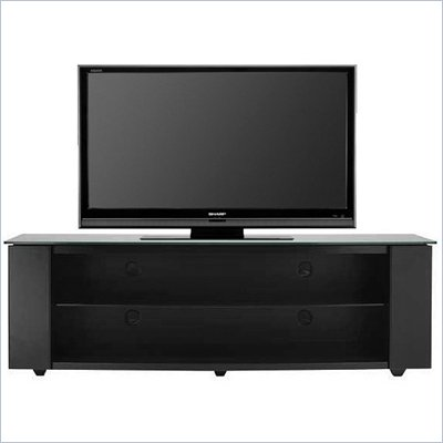 "Sanus Platinum 60"" Glass Top Plasma/LCD TV Stand in Black"