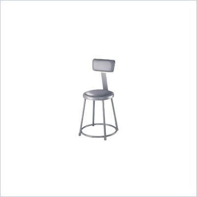 "National Public Seating 19-27"" Adjustable Stool with Backrest"