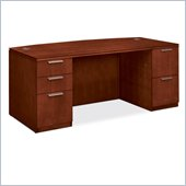 HON Arrive VW072D Bow Front Double Pedestal Desk