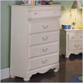 Standard Diana 5 Drawer Chest in White Wash Finish