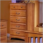 Standard City Park Kids 5 Drawer Chest in Rich Cherry Finish