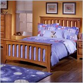 Standard City Park Kids Wood Slat Bed Complete 5 Piece Bedroom Set in Cherry