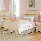 Standard Furniture Princess Twin Sleigh Bed in White Wash