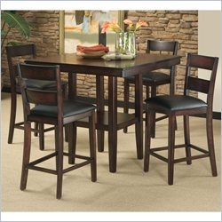 Standard Furniture Pendelton 5 Piece Counter Height Dining Table Set