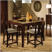 Standard Furniture Laguna Counter Height Table in Dark Merlot Finish